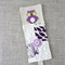 owl, purple, cross-stitched, linen, screen-printed, bookmark, mum