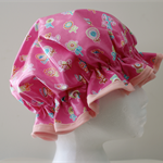 GIRLS Handmade PVC & BPA  FREE Shower Cap - Pretty & Practical. Eco - Friendly !