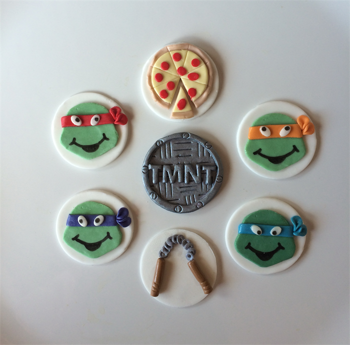 Ninja Turtles TMNT Edible Cupcake Toppers Sugar Spice Cupcakes