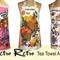 Metro Retro Orange Floral Tea Vintage Towel Apron * Birthday Mothers Day Gift