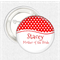 Hens Party - red spots - medium badge pack of 10 badges