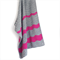 Ripple Crochet Baby Blanket - Grey and Neon Pink - Peruvian Wool
