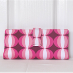 Purple Pink and White Retro Cat's Eyes Card Wallet Holder