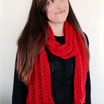 Red Lacy Scarf