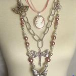 """PRINCESS SABINE"" butterfly necklace"