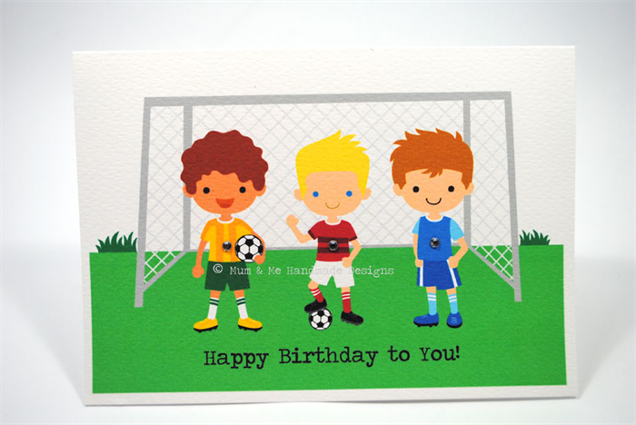 happy birthday card  boy  soccer friends football  hbc  mum, Birthday card
