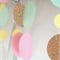 Pastels with a splash of sparkle / 3 metre paper garland