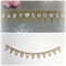 BABY SHOWER Burlap Banner Hessian Bunting - New Baby WHITE Heart