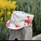 Ladies Oriental Cherry Blossom Cap Grey with Gold Specks Size M 56cm