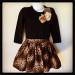 Long Sleeve Shirt & Skirt Set - Sizes 3 & 4
