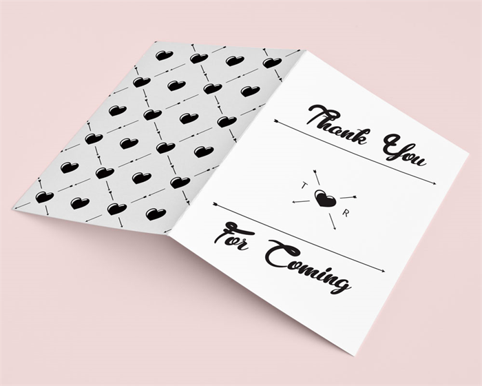 DIY Print Out Edit Wedding Invitations Thank You Card Hipster