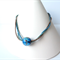 Mist Blue and Green glass statement Necklace