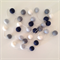Felt Ball Garland Navy Boy in Light Blue, Grey, White, Navy