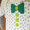 Star Bow Tie and Buttons Baby Bodysuit // Green // All in One // Long Sleeve
