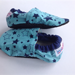 Navy Stars on Blue Soft Soled Shoes