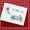 Letterpress Wedding Engagement Card