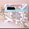 Aqua and Grey Suzani Design Wristlet Pouch Purse