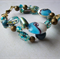 Turquoise blue wired bracelet.