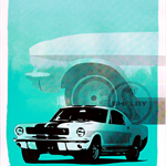 Limited Edition Ford Shelby Mustang 50th Anniversary Screen Print