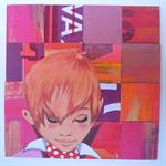 Contemplation - original collage - framed artwork