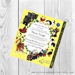 Little Golden Book theme Baby Shower Invitation - 1st birthday -digital invite