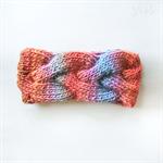 Hand knit headband. Head wrap. Knitted headband. Wool and Bamboo