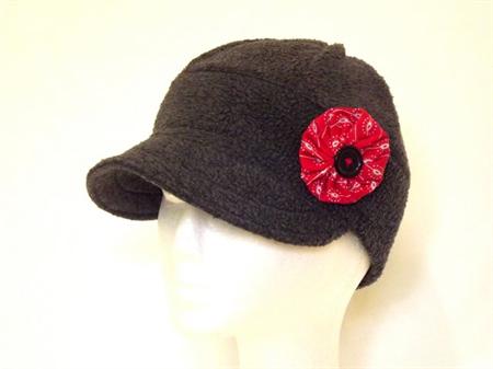 Winter Cap, Women's with Brooch