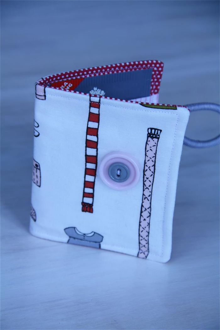 fb1c1a0a5d5 Tea Wallet - tea bag holder with sweet vintage children s clothes  red polka  dot