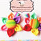 Pair Of Rainbow Fabric Flower clips