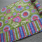 Sewing Machine Mat - Green Floral / Stripe - Mother's Day - Gift