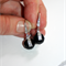 Austrian Swarovski Jet black spinning crystal silver pave drop earrings