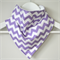 BUY 3 GET 4th FREE Lavender Purple Chevron Bandana Dribble Bib
