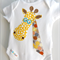 Into the Wild Giraffe Design Bodysuit Romper Baby Onesie Singlet