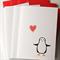4 Christmas cards Elvis the penguin