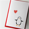 Blank card penguin Elvis the penguin Thank You Birthday  Anniversary Love
