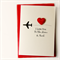 I love you card to the moon and back satin heart handmade