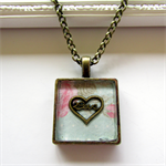 Love Resin Pendant - Perfect for Valentines Day
