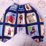 Baby Boys Harem Pants ~ Shirred ~ Pirate Theme ~ Reds Blues ~ 0-3 Months