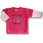 CLEARANCE... SIZE 1 Long Sleeve Handmade T-shirt With Cute Saying