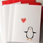 FREE POST 4 blank cards elvis the penguin
