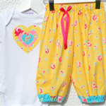 Harem Pants & Onesie Set - Buttercup . winter. baby outfit. birthday party.