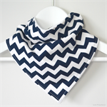 BUY 3 GET 4th FREE Navy Chevron Bandana Dribble Bib