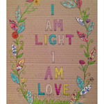Illustration Art Print - A4 'I AM LIGHT I AM LOVE'