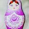 Laser cut Babushka Doll Brooch