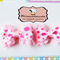 Pair Of Pink Polka Dots Bow Lace Edge clips
