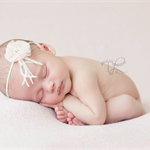 Vintage 'Ella Mae' Feather Baby Girl Childs Headband