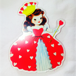 Laser cut Queen of Hearts Brooch
