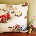 Vintage Barkcloth Children's Cushion