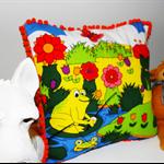 Bright, Cheery, Retro, Children's Cushion