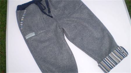 Fleecy Cuffed Trackpants for Boys